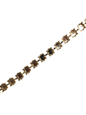Catena porta strass, 8,2 mm. (SS39), base Oro lucido