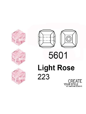 Swarovski Cubo LIGHT ROSE - 5601