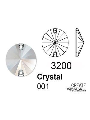 Swarovski Cabochon Tondo (forato) CRYSTAL - 3200
