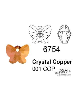 Swarovski Ciondolo Farfalla CRYSTAL COPPER - 6754