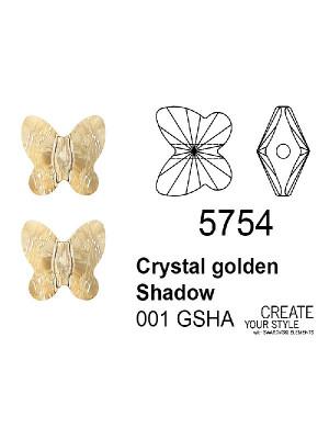 Swarovski Ciondolo Farfalla (foro passante) CRYSTAL GOLDEN SHADOW - 5754