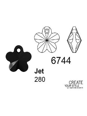 Swarovski Ciondolo Fiore JET - 6744