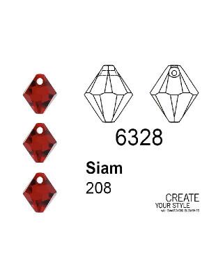 Swarovski Ciondolo Bicono SIAM - 6328