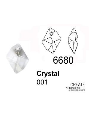 Swarovski Ciondolo Goccia romboidale CRYSTAL - 6680