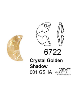Swarovski Ciondolo Luna CRYSTAL GOLDEN SHADOW - 6722