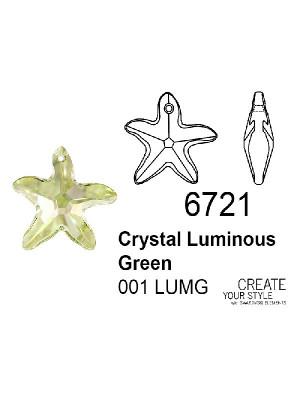 Swarovski Ciondolo Stella Marina CRYSTAL LUMINOUS GREEN - 6721
