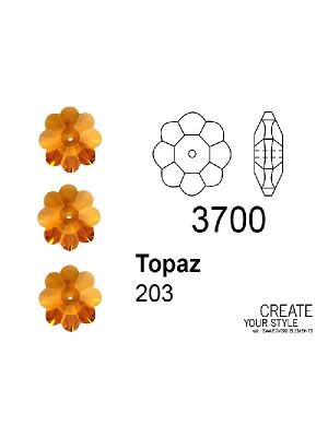 Swarovski Rondella a Fiore TOPAZ - 3700