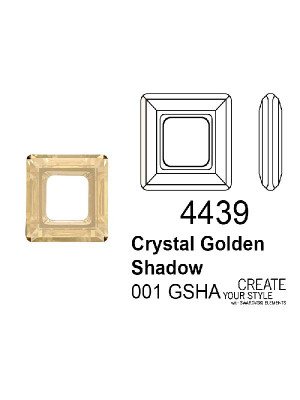 Swarovski Square Ring CRYSTAL GOLDEN SHADOW - 4439