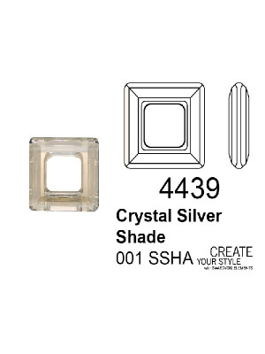 Swarovski Square Ring CRYSTAL SILVER SHADE - 4439