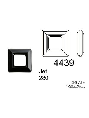 Swarovski Square Ring JET - 4439