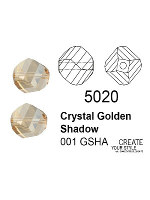 Swarovski Patata CRYSTAL GOLDEN SHADOW - 5020