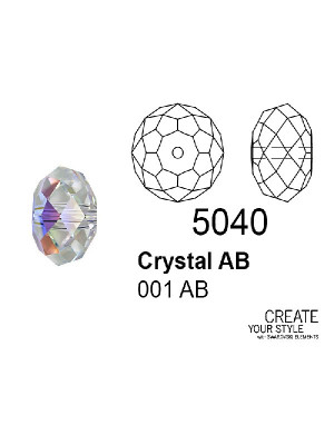 Swarovski Rondella a Cipolla CRYSTAL AB - 5040