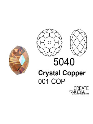 Swarovski Rondella a Cipolla CRYSTAL COPPER - 5040