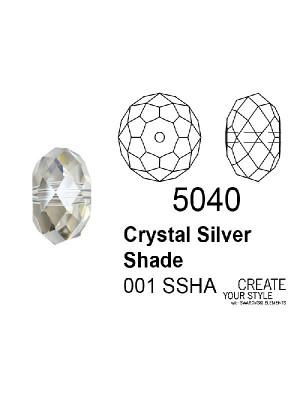 Swarovski Rondella a Cipolla CRYSTAL SILVER SHADE - 5040