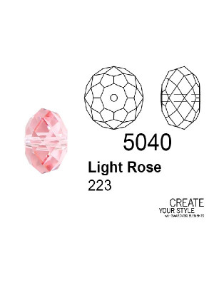 Swarovski Rondella a Cipolla LIGHT ROSE - 5040
