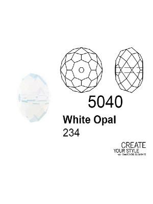 Swarovski Rondella a Cipolla WHITE OPAL - 5040