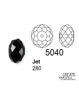 Swarovski Rondella a Cipolla JET - 5040