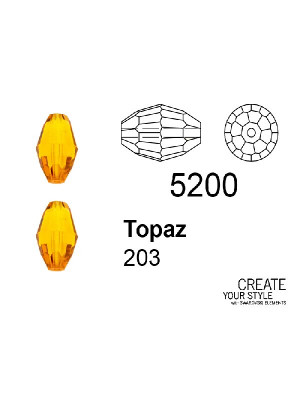 Swarovski Chicco di Riso TOPAZ - 5200