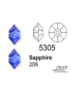 Swarovski Rondella SAPPHIRE - 5305