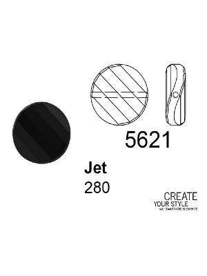 Swarovski Twist Bead JET - 5621
