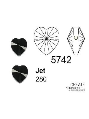 Swarovski Cuore JET - 5742