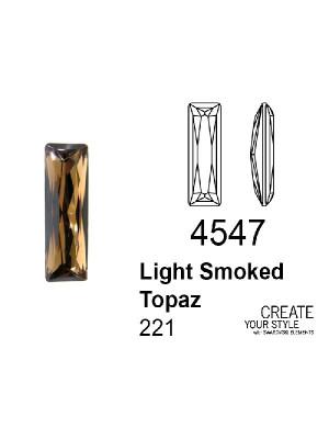 Swarovski Gemma Baguette LIGHT SMOKED TOPAZ - 4547