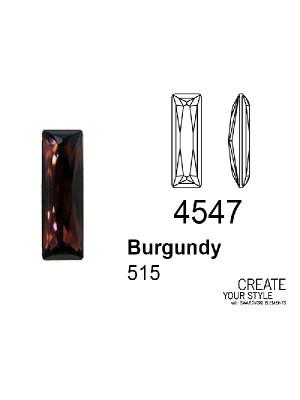 Swarovski Gemma Baguette BURGUNDY - 4547