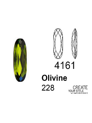 Swarovski Gemma Baguette OLIVINE - 4161