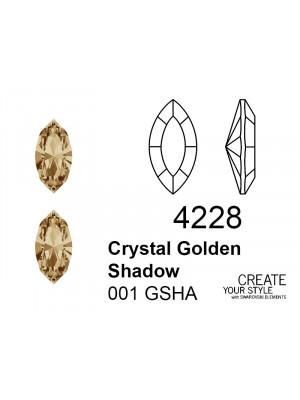 Swarovski Gemma a Navetta CRYSTAL GOLDEN SHADOW - 4228