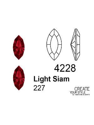 Swarovski Gemma a Navetta LIGHT SIAM - 4228