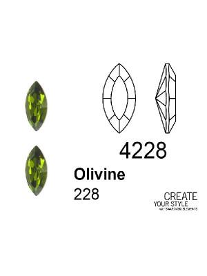 Swarovski Gemma a Navetta OLIVINE - 4228