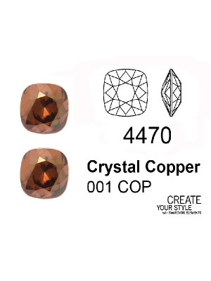 Swarovski Gemma Quadrata CRYSTAL COPPER - 4470