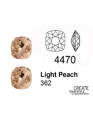 Swarovski Gemma Quadrata LIGHT PEACH - 4470