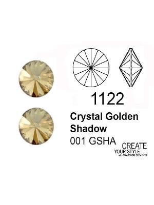 Swarovski Gemma Tonda a Rivolo CRYSTAL GOLDEN SHADOW - 1122