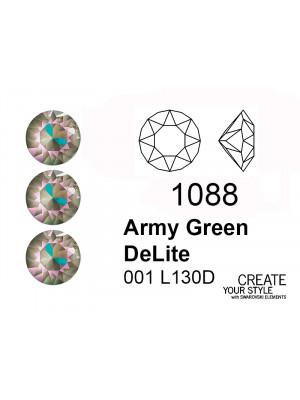 Swarovski Gemma Tonda Conica ARMY GREEN DELITE - 1088