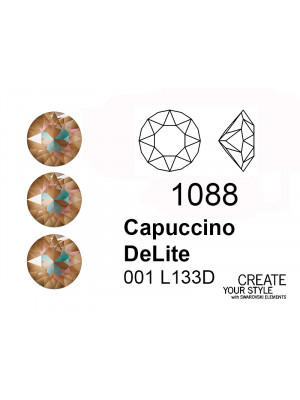 Swarovski Gemma Tonda Conica CAPUCCINO DELITE - 1088