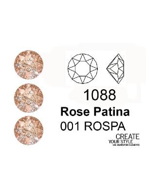 Swarovski Gemma Tonda Conica ROSE PATINA - 1088