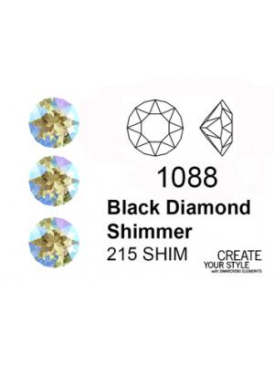 Swarovski Gemma Tonda Conica BLACK DIAMOND SHIMMER - 1088