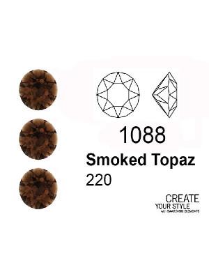 Swarovski Gemma Tonda Conica SMOKED TOPAZ - 1088