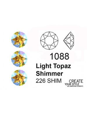Swarovski Gemma Tonda Conica LIGHT TOPAZ SHIMMER - 1088