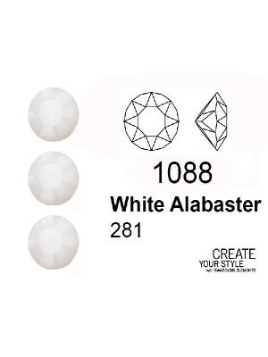 Swarovski Gemma Tonda Conica WHITE ALABASTER - 1088