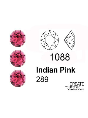 Swarovski Gemma Tonda Conica INDIAN PINK - 1088