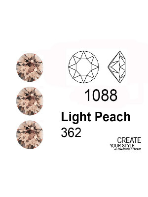 Swarovski Gemma Tonda Conica LIGHT PEACH - 1088