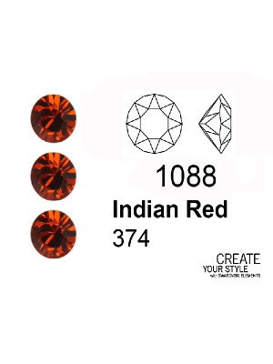 Swarovski Gemma Tonda Conica INDIAN RED - 1088