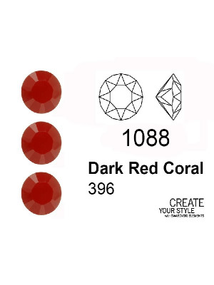 Swarovski Gemma Tonda Conica DARK RED CORAL - 1088