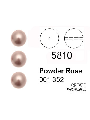 Swarovski Perla POWDER ROSE - 5810