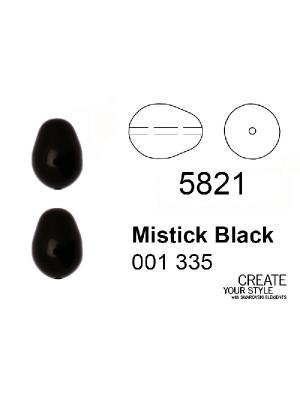 Swarovski Perla a Goccia MISTIC BLACK (nero) - 5821