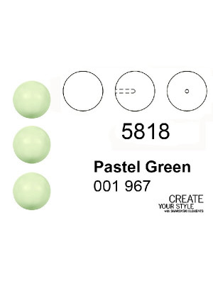 Swarovski Perla (mezzo foro) PASTEL GREEN - 5818