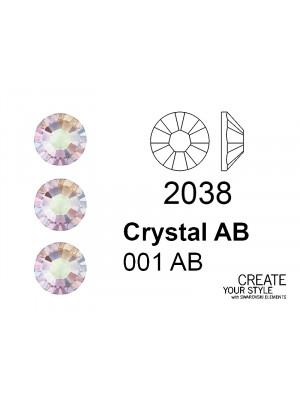 Swarovski Strass Termoadesivo CRYSTAL AB - 2038