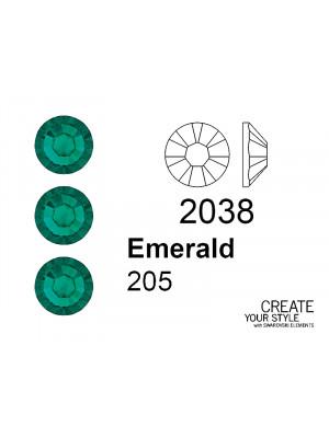 Swarovski Strass Termoadesivo EMERALD - 2038